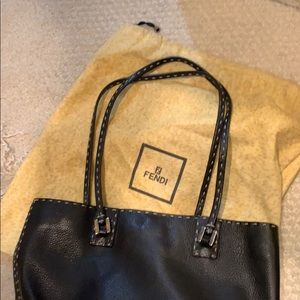 Fendi Bags - Fendi Black Leather Bag